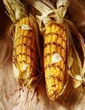 Barbecued grelhou a espiga de milho fresca imagem de stock royalty free