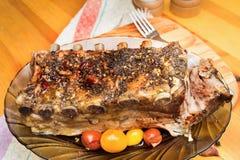 Barbecued grelhou reforços fotografia de stock royalty free