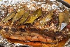Barbecued a grillé des nervures images libres de droits