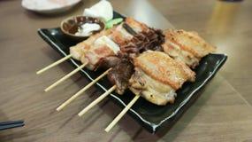 Barbecued kurczak, piec kurczak lub piec na grillu wołowina Zdjęcie Royalty Free