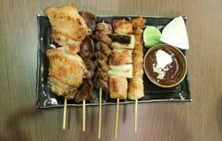 Barbecued kurczak, piec na grillu kurczak lub piec na grillu wołowina Obraz Royalty Free