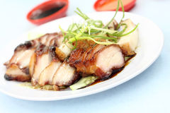 Barbecued pork - Asian style stock image