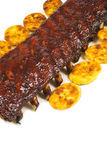 Barbecued Pork Baby Back Rib and Fried Plantains #2 Royalty Free Stock Photography