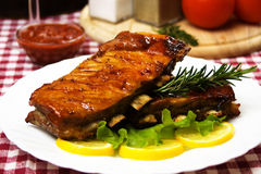 Barbecued pork ribs Royalty Free Stock Photo