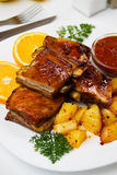 Barbecued pork ribs Stock Photography