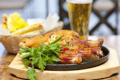 Barbecued pork ribs Stock Images