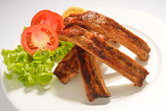 Barbecued pork ribs Royalty Free Stock Images
