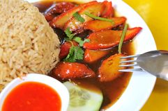 Barbecued Pork Rice Stock Images