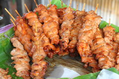 Barbecued pork. Is thailand fastfood Royalty Free Stock Photos