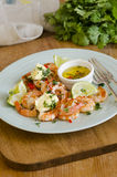 Barbecued prawns Stock Photos