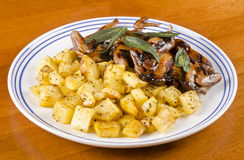 Barbecued Quails with Roasted Rutabaga #4 Stock Photography