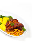 Barbecued ribs Royalty Free Stock Photos