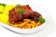Barbecued ribs Stock Photo