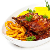 Barbecued ribs Stock Images