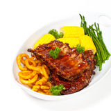 Barbecued ribs Royalty Free Stock Image