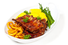 Barbecued ribs Royalty Free Stock Images