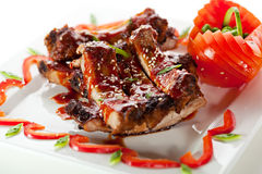 Barbecued Ribs Stock Photography