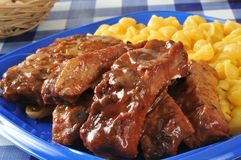 Barbecued ribs closeup Royalty Free Stock Image