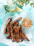 Barbecued ribs Stock Photos