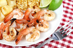 Barbecued Shrimp close up selective focus Royalty Free Stock Image