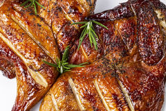 Barbecued Smoked Half Chicken Royalty Free Stock Photos