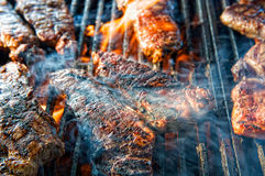 Barbecued steak Royalty Free Stock Photo