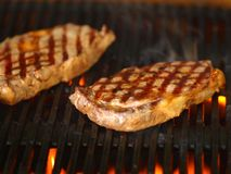 Barbecued Steak stock images