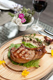 Barbecued steak Royalty Free Stock Photos
