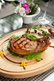 Barbecued steak Royalty Free Stock Images