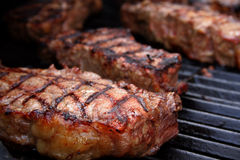 Barbecued Steaks Royalty Free Stock Images