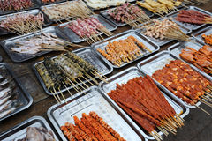 Barbecued Street Foods Stock Photography