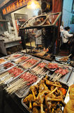 Barbecued Street Foods Stock Images
