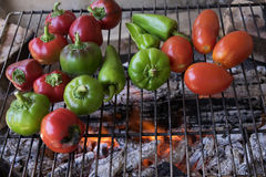 Barbecued tomatoes and peppers Royalty Free Stock Photos