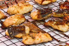 Barbecued white fish Royalty Free Stock Photos