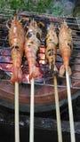 Barbecuegarnalen Stock Foto