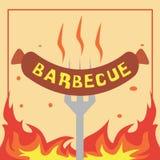 Barbecueillustratie Vectorart logo template en Illustratie vector illustratie