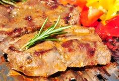 Barbecuelapje vlees Stock Fotografie