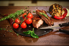Barbecuelapje vlees Stock Afbeelding