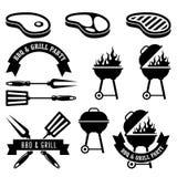 Barbecuepartij - bbq en grill Stock Fotografie