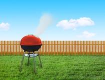 Barbecuepicknick op binnenplaats Royalty-vrije Stock Foto