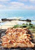 Barbecues op het overzees Royalty-vrije Stock Afbeeldingen