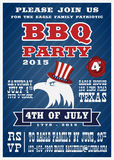 Barbecues party invitation and response card Royalty Free Stock Photo