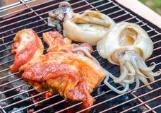 Barbecuevarkenskoteletten Royalty-vrije Stock Afbeelding