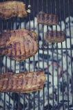 Barbecuevlees en rundvlees Royalty-vrije Stock Foto's