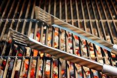 Barbecuewerktuigen XXXL stock afbeelding