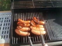 Barbecueworsten Stock Afbeelding