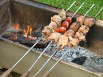 Barbecuing Stock Photos