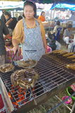 Barbecuing specialty Thai seafood Royalty Free Stock Image