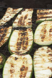 Barbecuing vegetables on charcoal fire closeup image. Royalty Free Stock Photos