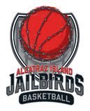 Alcatraz Island Jailbirds Basketball Design vector illustration